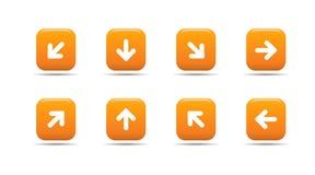 L'icona di Web ha impostato 5| Serie dell'albicocca Immagine Stock