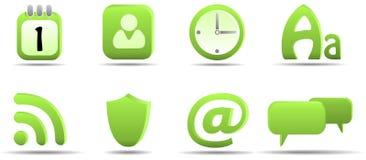 L'icona di Web ha impostato 6   Serie dell'erba Immagine Stock Libera da Diritti