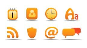 L'icona di Web ha impostato 6  Serie della zucca Immagini Stock Libere da Diritti