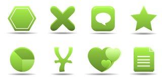 L'icona di Web ha impostato 7   Serie dell'erba Immagini Stock