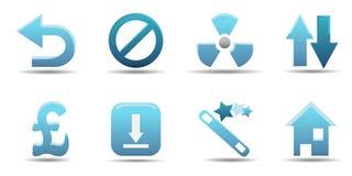L'icona di Web ha impostato 8   Serie del Aqua Immagine Stock
