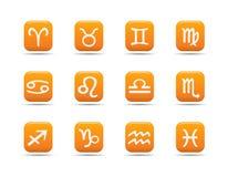 L'icona di Web ha impostato 8  Serie dell'albicocca Immagine Stock Libera da Diritti