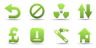 L'icona di Web ha impostato 8   Serie dell'erba Fotografia Stock