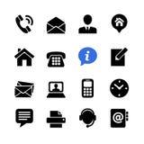 L'icona di web stabilita ci contatta Fotografia Stock