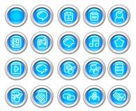 L'icona lucida di Silvero ha impostato: Internet e Blogging Immagini Stock