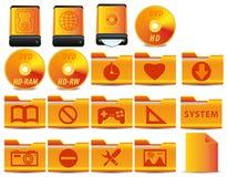L'icona per il sistema di esercizio ha impostato 4 di 4 Fotografie Stock Libere da Diritti