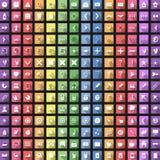 L'icona piana moderna ha messo con ombra lunga per il web Fotografia Stock Libera da Diritti