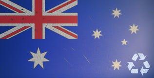 L'icona ricicla il simbolo della bandierina dell'Australia Fotografia Stock