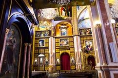 L'iconostasi nella chiesa copta Immagine Stock Libera da Diritti