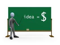L'idée égale l'argent Photo stock