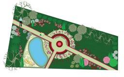 L'idée de l'architecture de paysage Illustration Libre de Droits