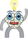 L'idée vient au caractère de cerveau Image libre de droits