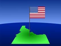 L'Idaho con la bandiera americana Immagini Stock Libere da Diritti
