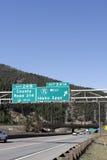 L'Idaho jaillit des signes de sortie Image stock