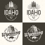 L'Idaho Wyoming Images stock