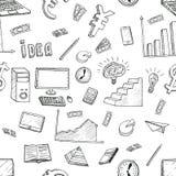 L'idea di affari scarabocchia le icone messe Immagine Stock Libera da Diritti