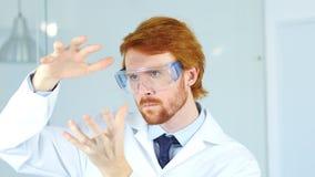 L'idea di Imagining New del ricercatore in laboratorio, creativo Immagine Stock Libera da Diritti