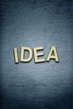 L'idea di parola su fondo strutturato Fotografie Stock Libere da Diritti