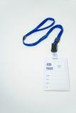 L'identification passent, utilisé pour montrer le statut ou l'identité de nom photographie stock libre de droits