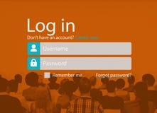 L'identifiez-vous s'enregistrent le concept de page de compte de s'inscrire image stock