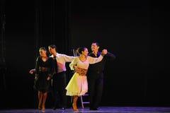 l'identità del dramma di ballo di mistero-tango Fotografie Stock Libere da Diritti