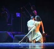 L'identità di seduta- di signora del dramma di ballo di mistero-tango Fotografia Stock Libera da Diritti