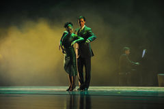 L'identità di trascuratezza del the-the del mistero-tango balla il dramma Fotografie Stock