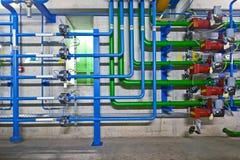 L'idraulica industriale Fotografia Stock Libera da Diritti