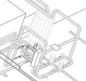 L'idraulica sistemy della cambiale Fotografie Stock