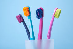 L'igiene dentale - toothbrushes fotografia stock