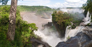 l'Iguacu tombe en Argentine Brésil Photos stock