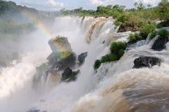 Les chutes d'Iguacu Photo stock