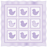 L'il Duckies Quilt, Pastel Lavender Royalty Free Stock Photo
