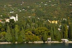 L'IL Vittoriale sur le policier Italie de lac Photographie stock libre de droits