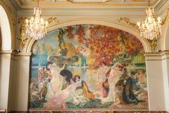L'ile mural le de Cythere de Paul J Gervais Fotografía de archivo