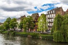 L'Ill in Straatsburg, Frankrijk Royalty-vrije Stock Foto's
