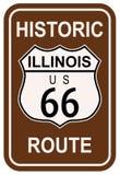 L'Illinois Route 66 historique Image libre de droits