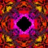 L'illusion ardente colorée du trou noir 3D a rendu sans couture Photographie stock