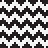 L'illusion optique noire et blanche, dirigent le modèle sans couture. illustration stock