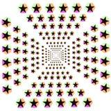 L'illusione stars il fondo di esagono illustrazione vettoriale