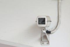 l'illustration élevée de télévision en circuit fermé d'appareil-photo de fond a isolé le blanc de qualité Photographie stock