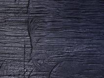 L'illustration bleue peinte sur le matériel en bois photo stock