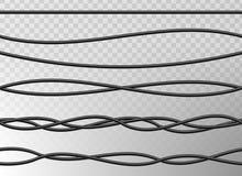 L'illustration créative de vecteur du réseau flexible réaliste de fils électriques, énergie industrielle de puissance de connexio illustration stock