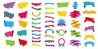 L'illustration créative de vecteur de représenter des bannières d'autocollants de label étiquettent la collection réglée d'isolem Photographie stock