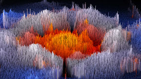 l'illustration 3D du macro abstrait rendent la structure faite de colonnes de millions Image libre de droits