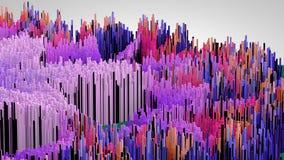 l'illustration 3D du macro abstrait rendent la structure faite de colonnes de millions Images libres de droits