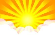 L'illustration d'illustration de vecteur du ciel opacifie le soleil illustration stock