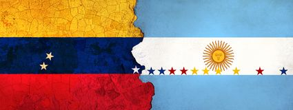 l'illustration 3D pour les migrants vénézuéliens se sauvant en Argentine en tant que crise économique/politique empire illustration stock
