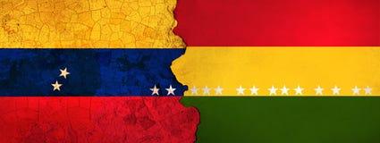 l'illustration 3D pour les migrants vénézuéliens se sauvant en Bolivie en tant que crise économique/politique empire illustration stock