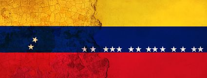 l'illustration 3D pour les migrants vénézuéliens se sauvant en Colombie en tant que crise économique/politique empire illustration stock